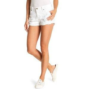 Pistola Kel Distressed Cuffed White Shorts
